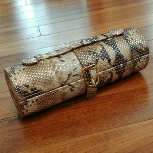 Other - Snakeskin Embossed Travel Jewelry Box